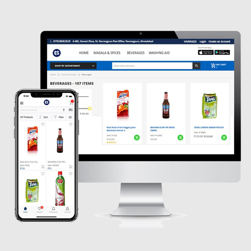 E-Commerce Website Design + Android and iOS App