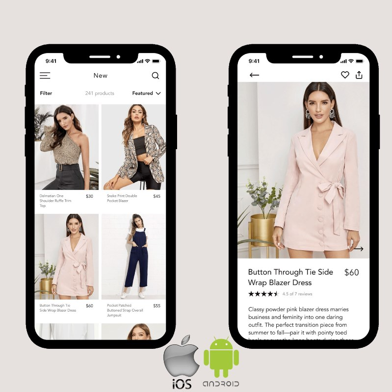 eCommerce Mobile Apps for Android and iOS